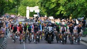 Final de Izumi Tour Series Bicycle Race de la perla en el baño Inglaterra Imagen de archivo