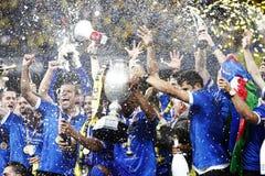 Final de la Copa de Rumania: Petrolul Ploiesti - CFR Cluj Imagen de archivo libre de regalías