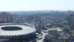 2018 final de la liga de campeones de UEFA, estadio del panorama en Kiev almacen de metraje de vídeo