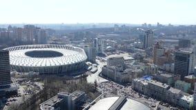 2018 final de la liga de campeones de UEFA, estadio del panorama en Kiev metrajes