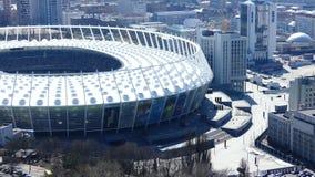2018 final de la liga de campeones de UEFA, estadio del panorama en Kiev almacen de video