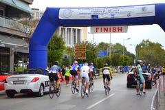 Final de la raza de ciclo Fotos de archivo