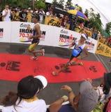Final de la raza de la corrida del maratón de Ironman Filipinas Fotos de archivo