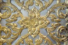 Final de madera de la hoja de oro del arte del arte tailandés Imagenes de archivo