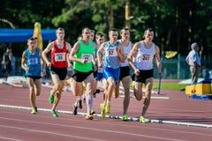Final de 1500 metros para los hombres Imagen de archivo libre de regalías