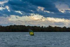 Final de un día ventoso fotografía de archivo
