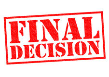 FINAL DECISION Stock Images