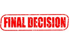 Final decision red stamp. On white background Royalty Free Stock Image