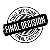 Final Decision rubber stamp. Grunge design with dust scratches. Effects can be easily removed for a clean, crisp look. Color is easily changed Stock Photo