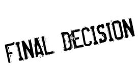 Final Decision rubber stamp. Grunge design with dust scratches. Effects can be easily removed for a clean, crisp look. Color is easily changed Royalty Free Stock Images