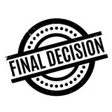 Final Decision rubber stamp. Grunge design with dust scratches. Effects can be easily removed for a clean, crisp look. Color is easily changed Stock Photography