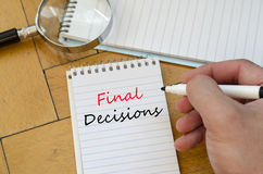 Final decisions text concept Royalty Free Stock Image