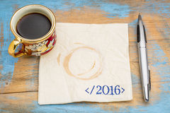 Final del concepto de 2016 años Imagen de archivo libre de regalías