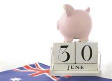 Final del concepto de los ahorros del ejercicio presupuestario Foto de archivo libre de regalías