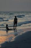 Final del día 2 de la playa Imágenes de archivo libres de regalías