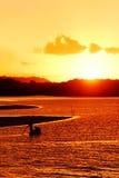 Final del día en Bahía - el Brasil. fotos de archivo libres de regalías