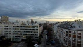 Final del día en Zagreb, Croacia