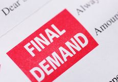 Final demand Stock Image