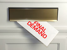 Final demand. Every day the effect of the credit crunch is felt by people in their homes, usually through an unwelcome letter in the mail stock photography