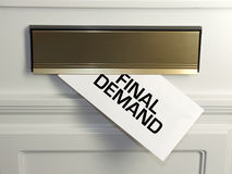 Final demand. Every day the effect of the credit crunch is felt by people in their homes, usually through an unwelcome letter in the mail Stock Images