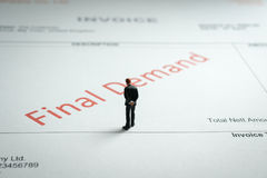 Final Demand Invoice Royalty Free Stock Image