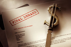 Final demand notice Stock Image