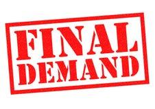 FINAL DEMAND Stock Image