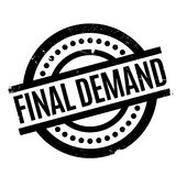 Final Demand rubber stamp. Grunge design with dust scratches. Effects can be easily removed for a clean, crisp look. Color is easily changed Royalty Free Stock Photos