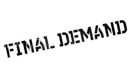 Final Demand rubber stamp. Grunge design with dust scratches. Effects can be easily removed for a clean, crisp look. Color is easily changed Stock Photos