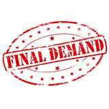 Final demand. Rubber stamp with text final demand inside,  illustration Stock Photography