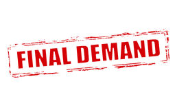 Final demand. Rubber stamp with text final demand inside,  illustration Stock Photo