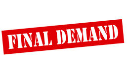Final demand. Rubber stamp with text final demand inside,  illustration Royalty Free Stock Photo