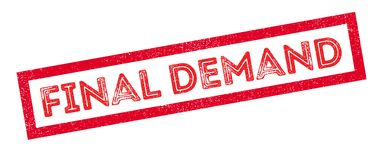 Final Demand rubber stamp. On white. Print, impress, overprint Stock Photos