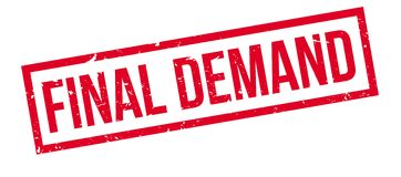 Final Demand rubber stamp. On white. Print, impress, overprint Royalty Free Stock Images