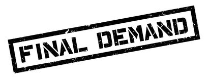 Final Demand rubber stamp. On white. Print, impress, overprint Royalty Free Stock Photo