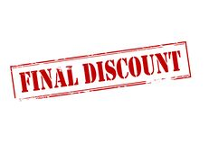 Final discount. Rubber stamp with text final discount inside,  illustration Stock Photography