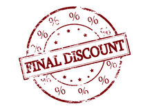 Final discount. Rubber stamp with text final discount inside, vector illustration Royalty Free Stock Images