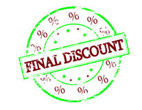 Final discount. Rubber stamp with text final discount inside, vector illustration Stock Photo