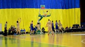 Final do campeonato F4 do basquetebol, Kiev, Ucrânia, video estoque