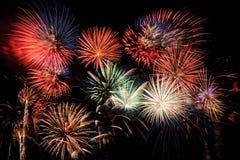 Final dos fogos-de-artifício imagem de stock royalty free