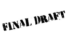 Final Draft rubber stamp Stock Image