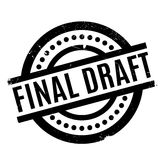 Final Draft rubber stamp. Grunge design with dust scratches. Effects can be easily removed for a clean, crisp look. Color is easily changed Royalty Free Stock Photos