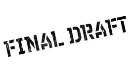 Final Draft rubber stamp. Grunge design with dust scratches. Effects can be easily removed for a clean, crisp look. Color is easily changed Royalty Free Stock Photo