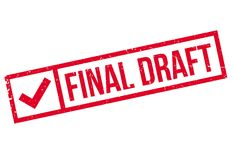 Final Draft rubber stamp. Grunge design with dust scratches. Effects can be easily removed for a clean, crisp look. Color is easily changed Stock Image