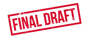 Final Draft rubber stamp. On white. Print, impress, overprint Royalty Free Stock Photography