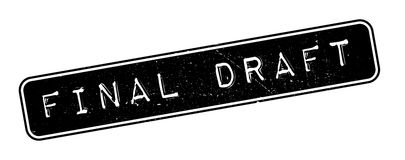 Final Draft rubber stamp. On white. Print, impress, overprint Royalty Free Stock Image