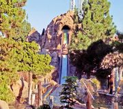 Timber Mountain Log Ride At Knotts Berry Farm stock images