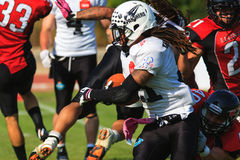 Final EFAF CUP 2013. PIONERS VS BLACK PANTHERS Royalty Free Stock Photo