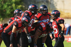 Final EFAF CUP 2013. PIONERS VS BLACK PANTHERS Royalty Free Stock Images