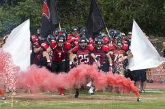 Final EFAF CUP 2013. PIONERS VS BLACK PANTHERS Stock Images